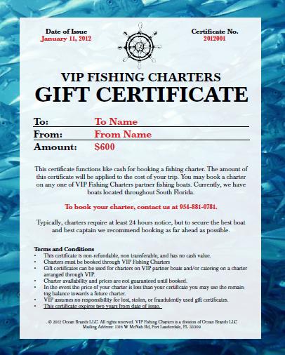 Fishing Trip Gift Certificate