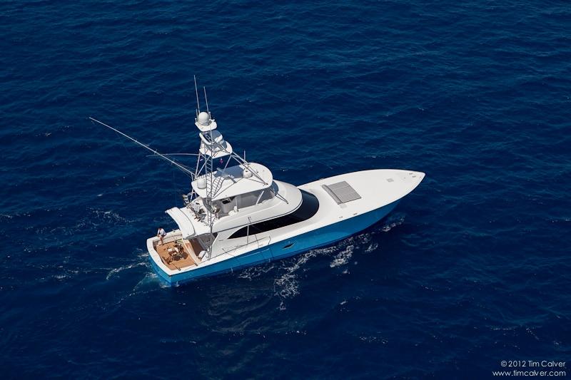 Viking 76 Fishing Yacht Sportfish Aerial Stbd