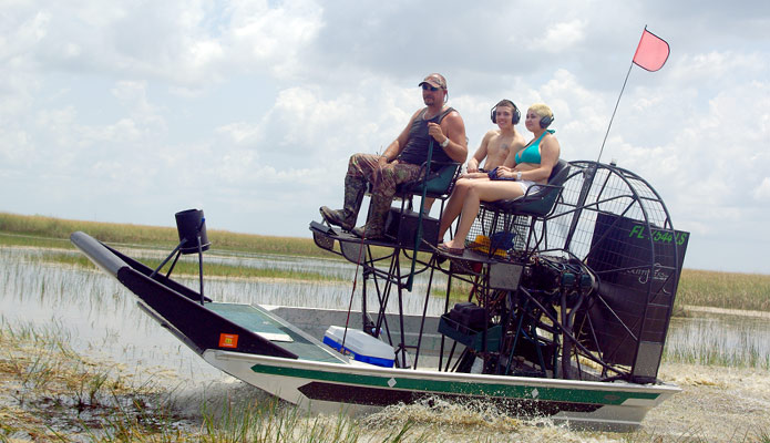 Florida Everglades Airboat Fishing Trips